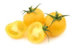 Fresh dutch yellow `tasty tom` tomatoes Stock Images