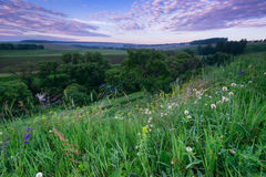 Fresh early morning over hills and Russia Royalty Free Stock Photos