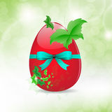 Fresh Easter Egg and leaf Butterfly Background Royalty Free Stock Photography