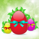 Fresh Easter Eggs Background Stock Images