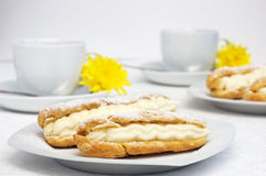 Fresh eclairs Royalty Free Stock Photo
