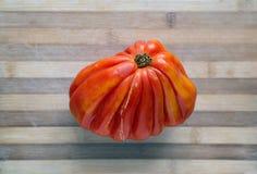 Fresh ecologic beefsteak tomato. Royalty Free Stock Image