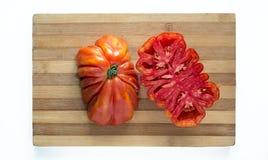 Fresh ecologic beefsteak tomato. Royalty Free Stock Images
