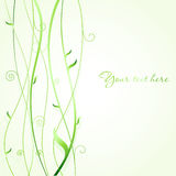 Fresh ecological background with green tree vector illustration