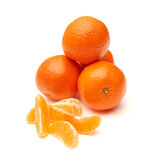 Fresh ecological clementines Stock Photo