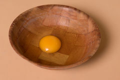 Fresh egg in a bowl Royalty Free Stock Image