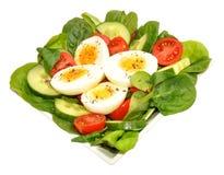 Fresh Egg And Tomato Salad Bowl Stock Images