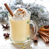 Fresh eggnog stock photos