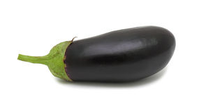 Fresh Eggplant, isolated on a white background Royalty Free Stock Photos