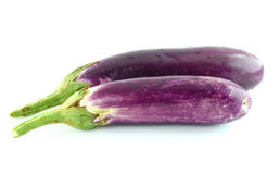 Fresh eggplant isolated on white Royalty Free Stock Photo