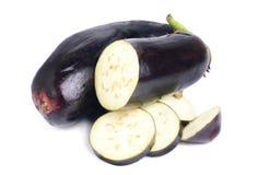 Fresh eggplant  on white Royalty Free Stock Photo