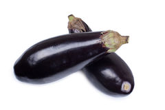 Fresh eggplant on white Royalty Free Stock Photos