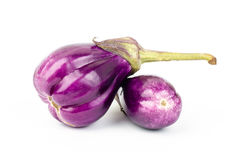 Fresh eggplant. On white background Stock Image