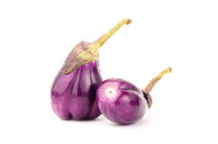 Fresh eggplant. On white background Stock Images