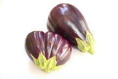 Fresh eggplant. Eggplant on a white background Stock Photography