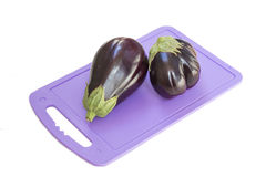 Fresh eggplant. Eggplant on a white background Royalty Free Stock Image