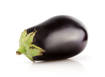 Fresh Eggplant on white Stock Image