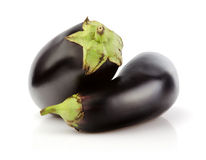 Fresh Eggplant on white Royalty Free Stock Images