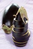 Fresh eggplants Stock Photo