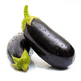 Fresh eggplants Stock Photo