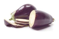 Fresh eggplants Stock Images