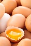 Fresh eggs background. Royalty Free Stock Photos