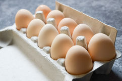 Fresh Eggs background stock image