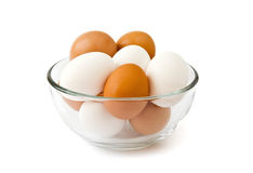 Fresh eggs in the bowl Royalty Free Stock Image