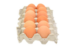 Fresh eggs in a box Royalty Free Stock Photo