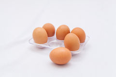 Fresh eggs in the box Royalty Free Stock Photo