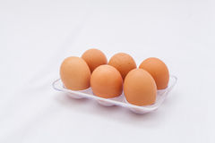 Fresh eggs in the box Royalty Free Stock Image