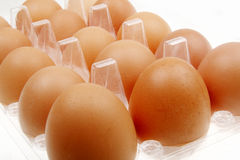 Fresh eggs close-up Royalty Free Stock Photos