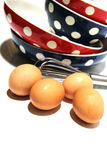 Eggs and color blow Royalty Free Stock Images