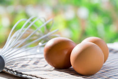 Fresh Eggs In The Kitchen Royalty Free Stock Image
