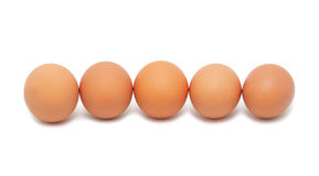Fresh eggs, isolated Royalty Free Stock Image
