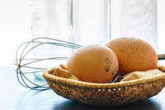 Fresh Eggs Just Laid Stock Photography