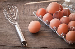 Fresh eggs for making scrambled egg Royalty Free Stock Photo
