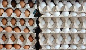 Fresh eggs in a market Stock Photos