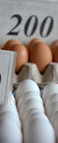 Fresh eggs in a market Royalty Free Stock Photos