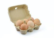Fresh eggs, natural packaging Stock Photo