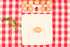 Fresh eggs and parsley Royalty Free Stock Photo