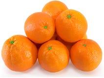 Fresh elite oranges isolated on the white background. Fresh elite oranges isolated on the white background Royalty Free Stock Image