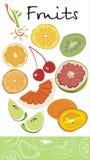 Fresh energy. Fruit set on the white background Royalty Free Stock Photos