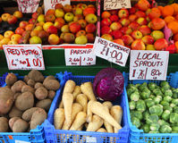 Fresh English fruit and veg Royalty Free Stock Photography