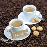 Fresh espresso Royalty Free Stock Images