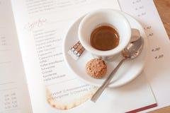 Fresh espresso cup Stock Photo