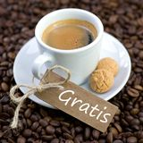 Fresh espresso, for free Stock Photo