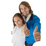 Fresh european couple with long hair Royalty Free Stock Images