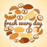 Fresh Every Day bakery label Royalty Free Stock Images