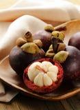 Fresh exotic fruit mangosteen Stock Image